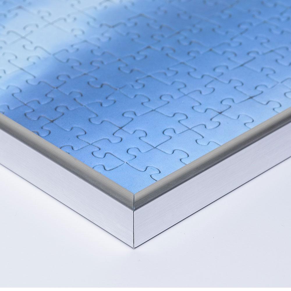 Plast-pusselram för 1500 delar 60x80 cm   silver   Antireflex-Konstglas