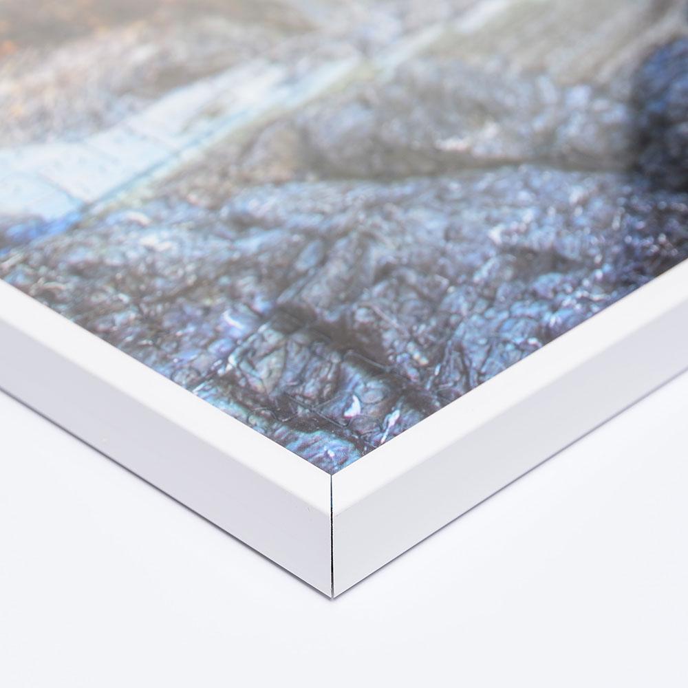 Plast-pusselram för 1500 delar 60x80 cm | vit | Antireflex-Konstglas