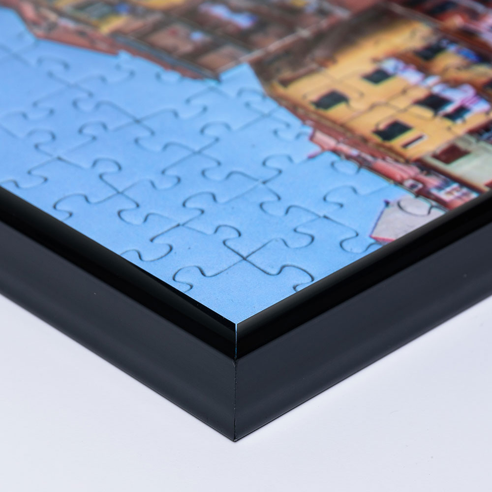 Plast-pusselram för 2000 delar 75x98 cm | svart | Antireflex-Konstglas