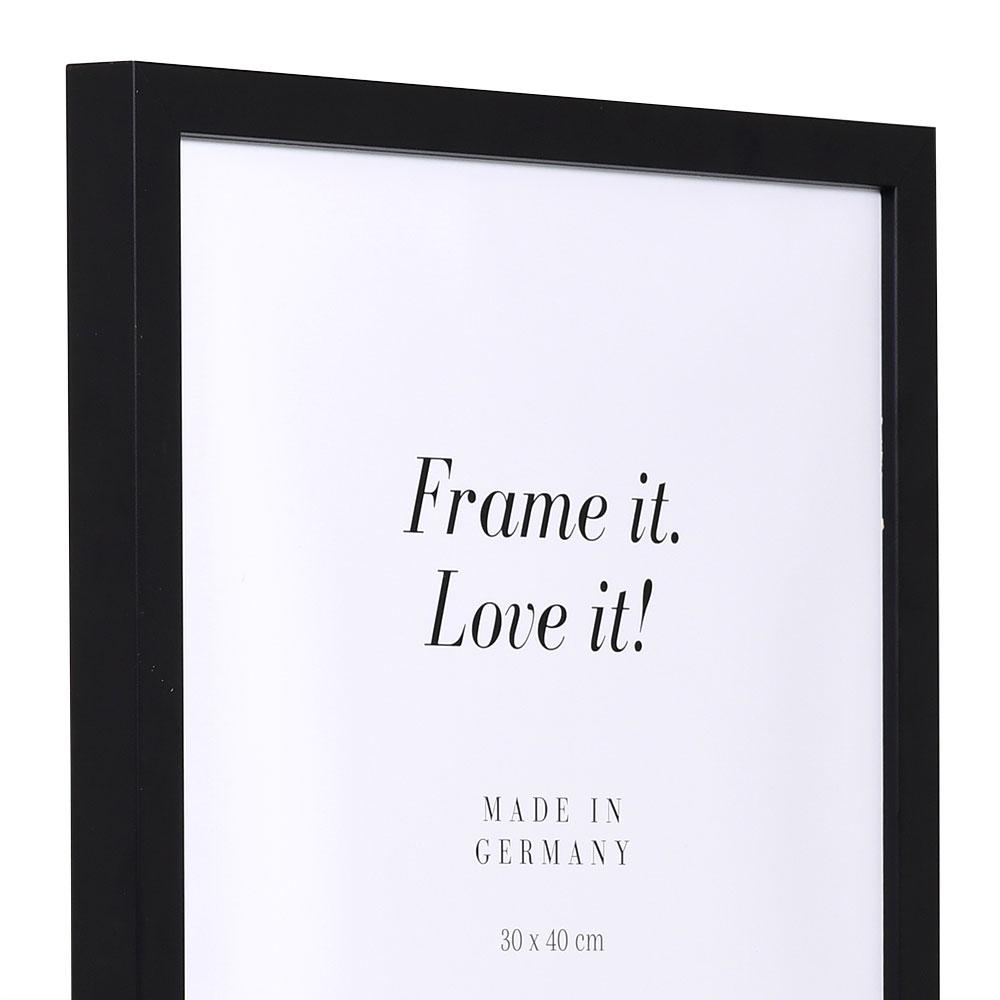 Träram Figari efter mått svart | Antireflex-Konstglas