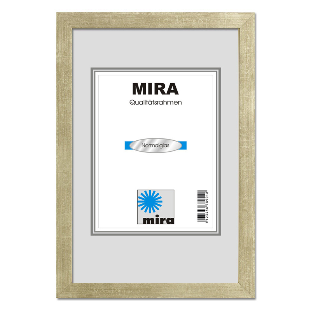 Träram Figari med distanslist 10x15 cm | antiksilver | standardt glas