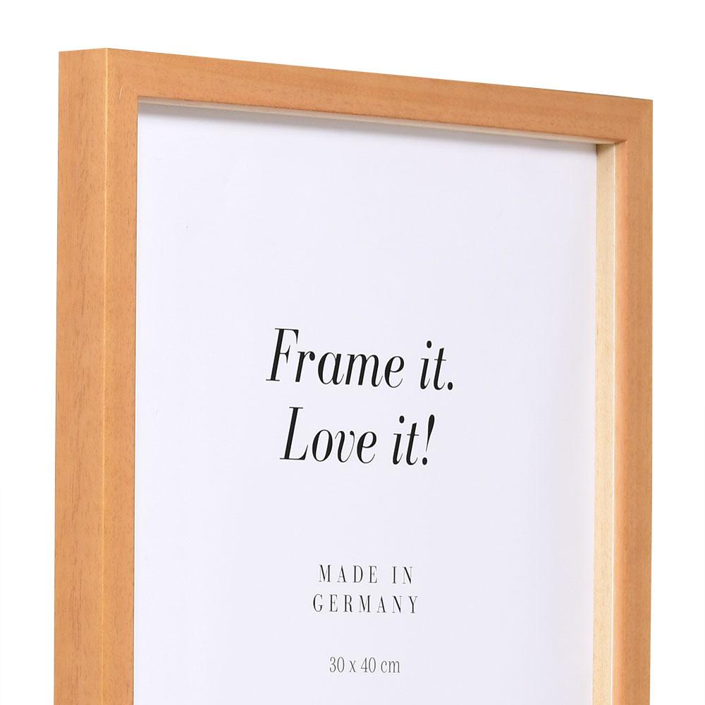 Träram Figari med distanslist 10x15 cm | brun | standardt glas