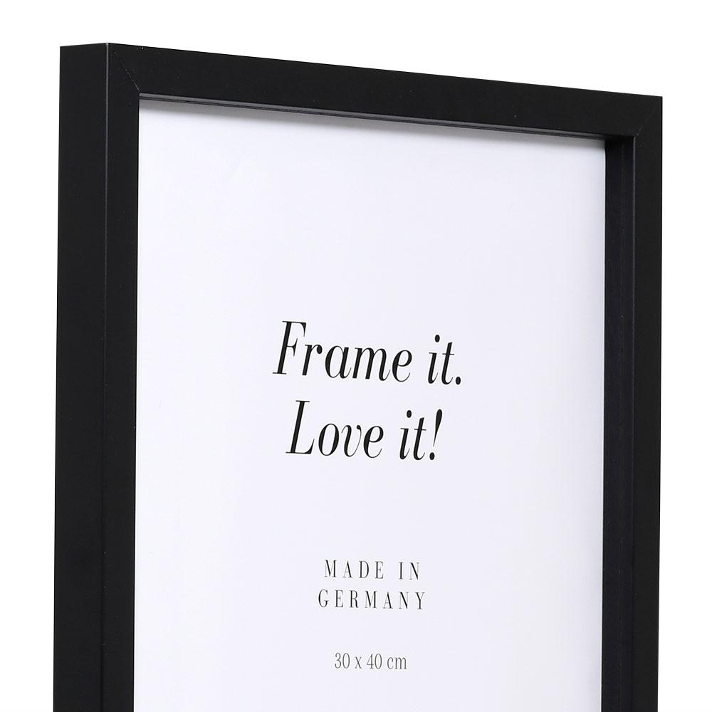 Träram Figari med distanslist 10x15 cm | svart | standardt glas