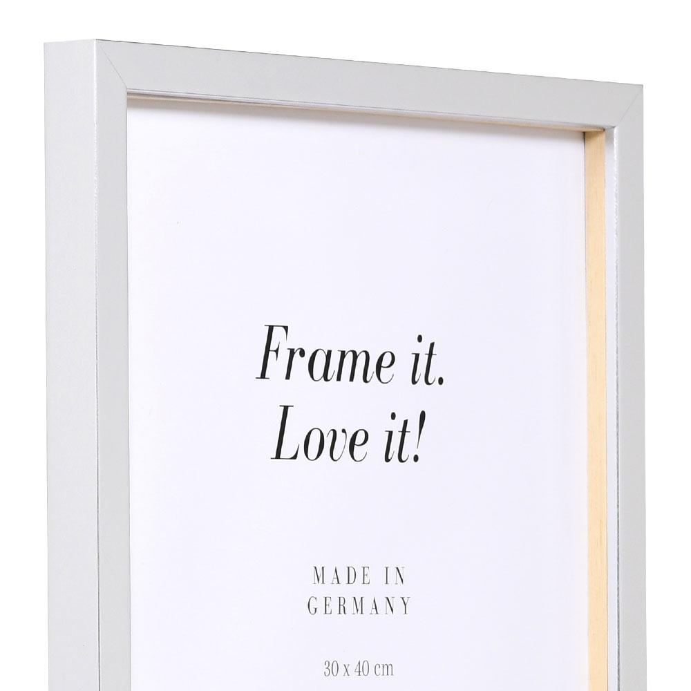 Träram Figari med distanslist 42x59,4 cm (A2) | silver | standardt glas