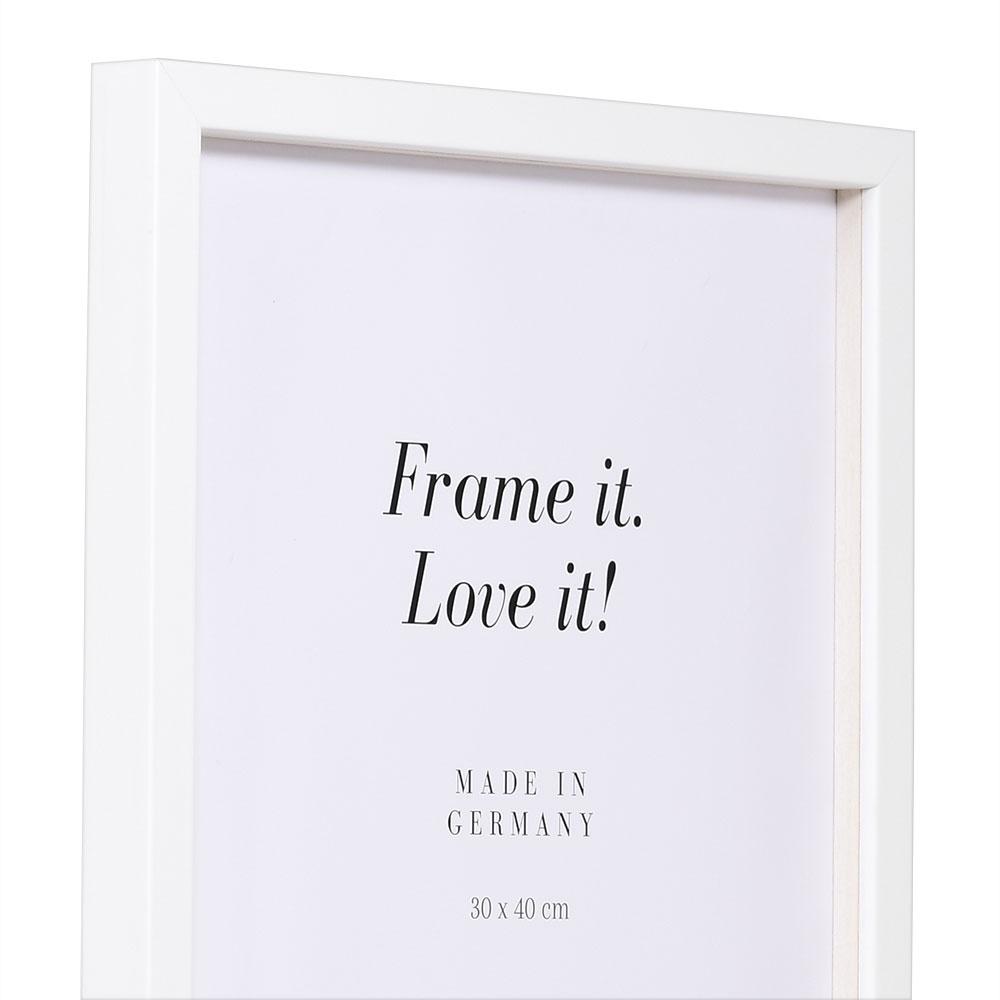 Träram Figari med distanslist 10x15 cm | vit | standardt glas