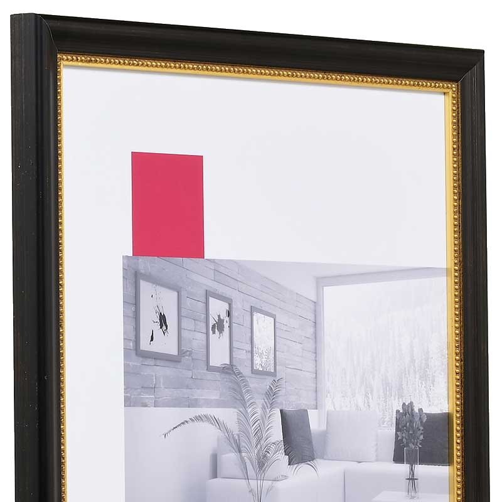 Barockram Boulay 13x18 cm   svart   standardt glas