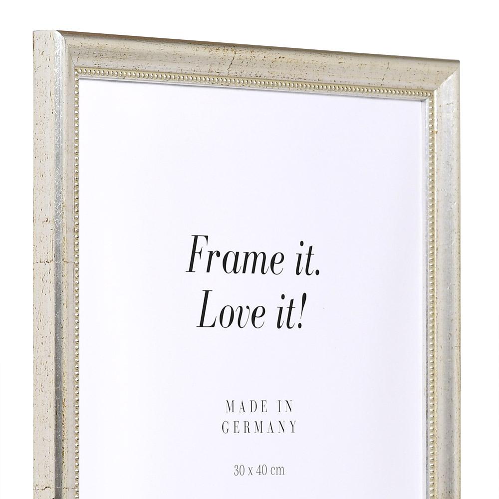 Barockram Boulay 9x13 cm | silver | standardt glas