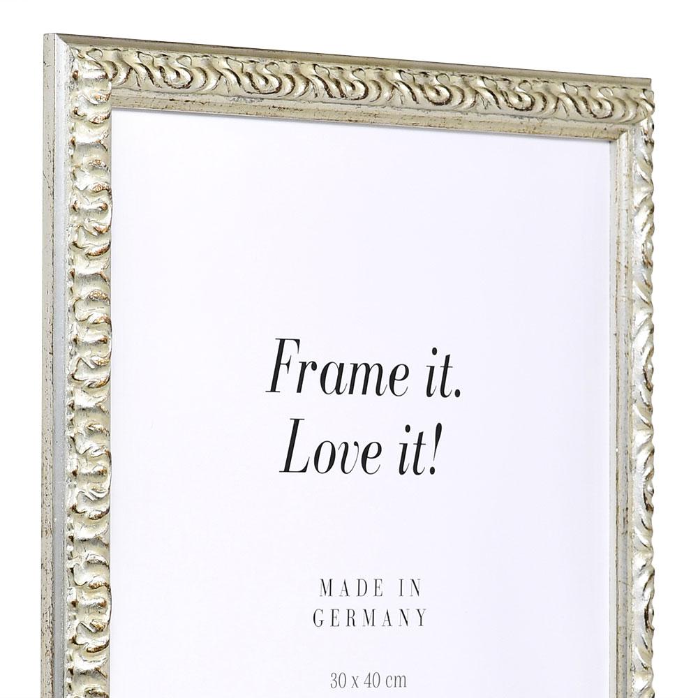 Barockram Rémelfing 42x59,4 cm (A2) | silver | standardt glas