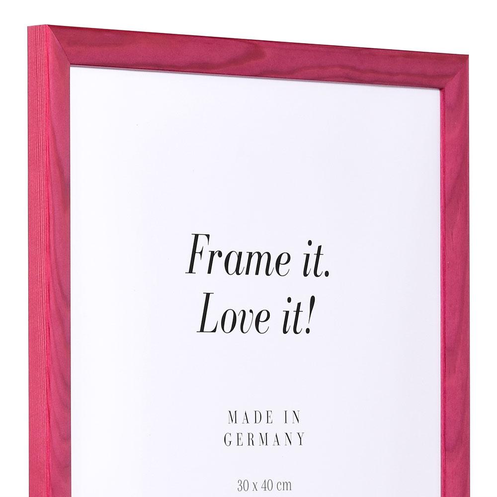 Träram Korsika 28x35 cm   rosa   standardt glas