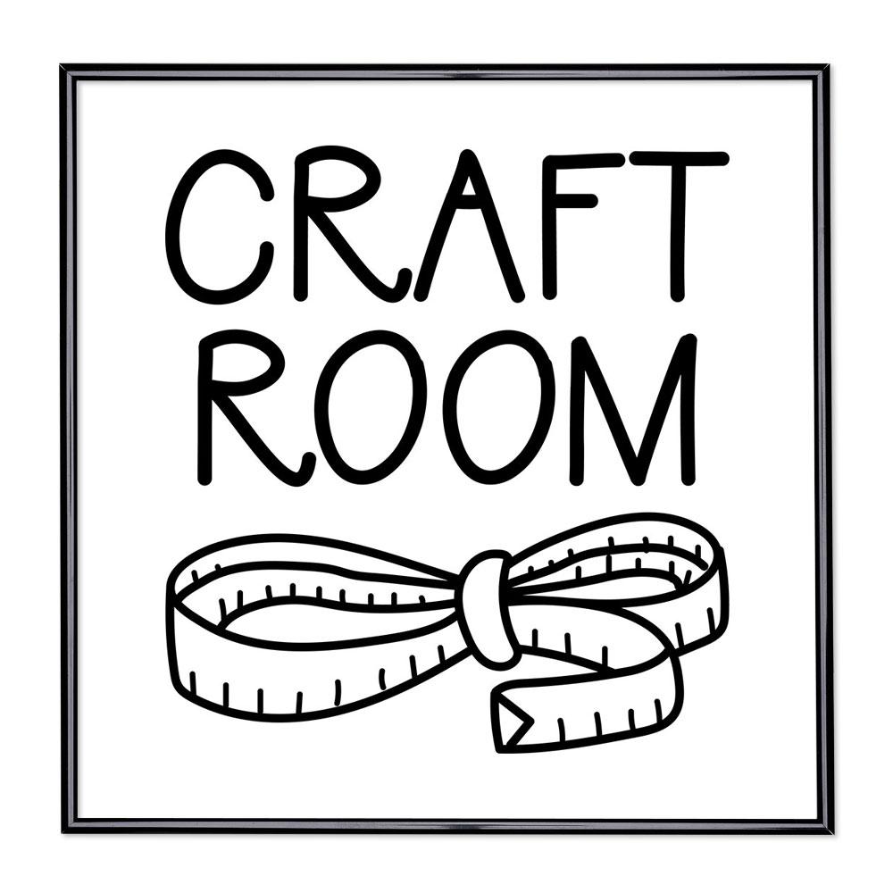Bildram med ordstäv - Craft Room