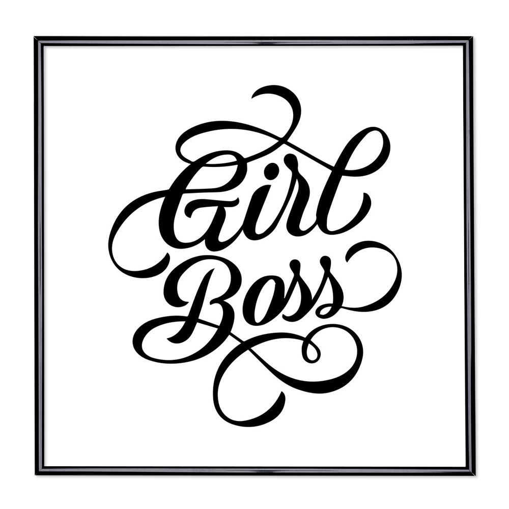 Bildram med ordstäv - Girl Boss