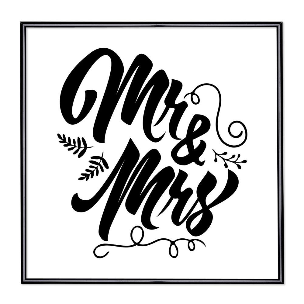 Bildram med ordstäv - Mr & Mrs
