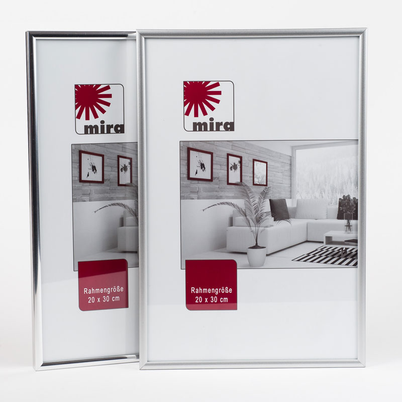 Plastram ART - Alu-Like 50x50 cm | silver matt | standardt glas