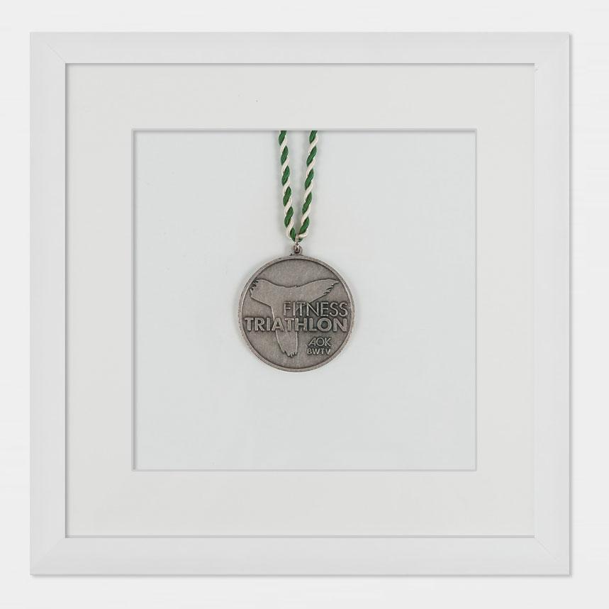 Medaljram 20x20 cm, vit 20x20 cm | vit | standardt glas