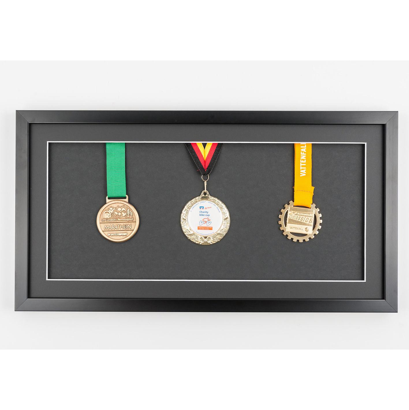 Medaljram 25x50 cm, svart