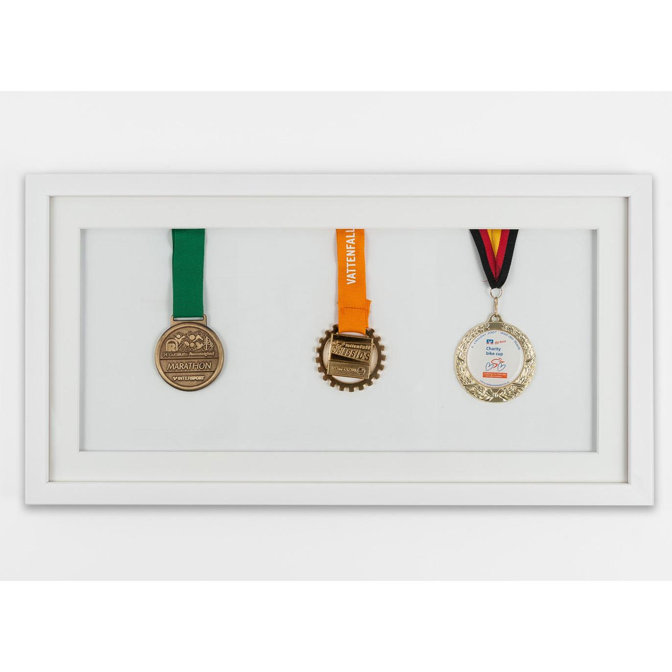 Medaljram 25x50 cm, vit 25x50 cm | vit | standardt glas
