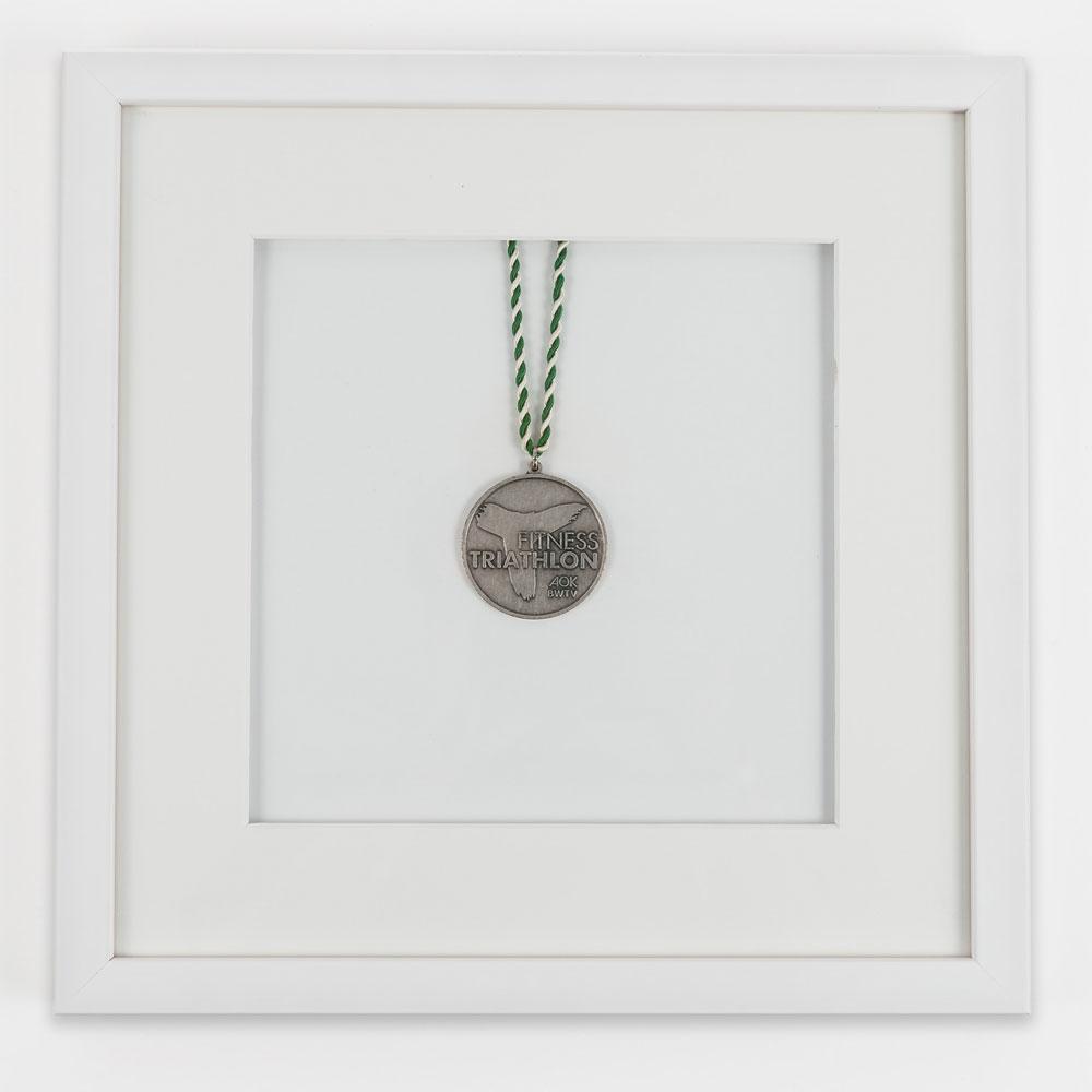 Medaljram 30x30 cm, vit 30x30 cm | vit | standardt glas