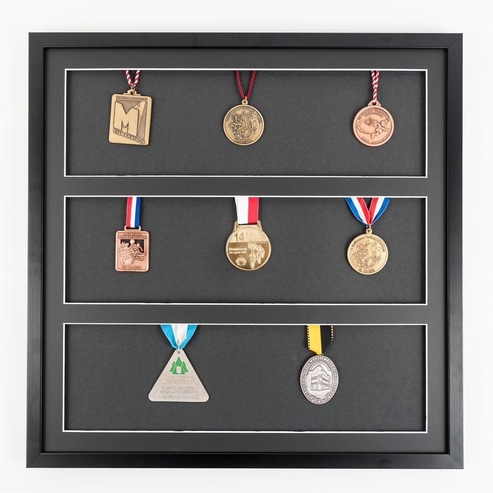 Medaljram 50x50 cm, svart