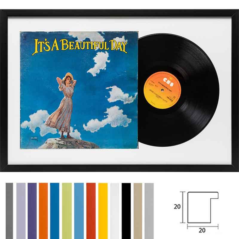 """Träram """"Top Cube"""" för LP-skivor med omslag"""