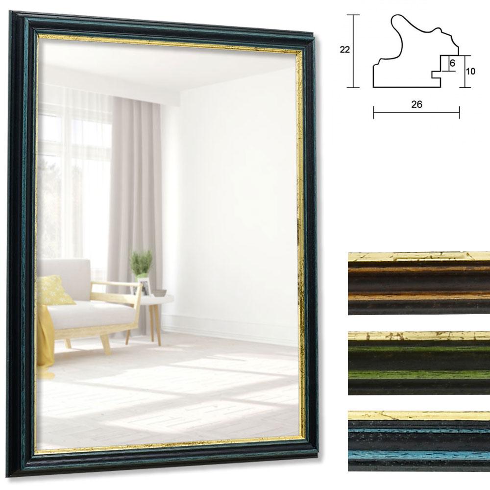Spegelram Toulouse 9x13 cm | blå-guld | spegel