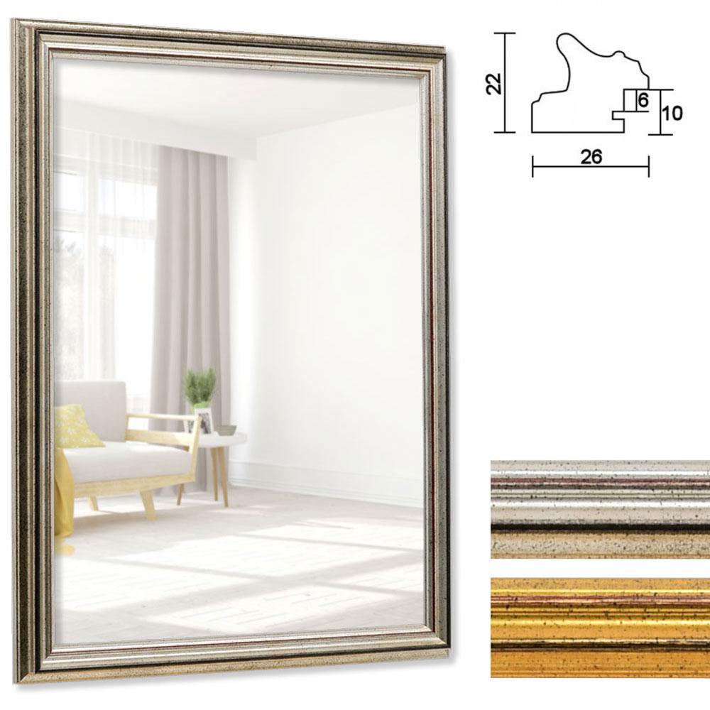 Spegelram Saint-Pierre 10x10 cm | silver | spegel