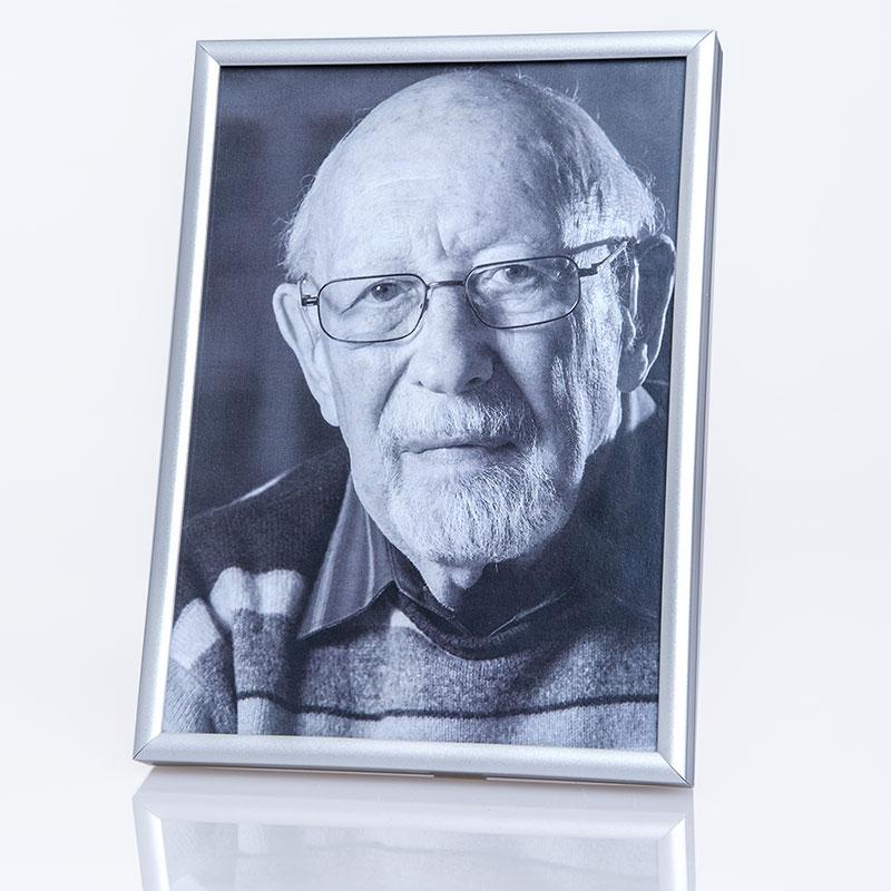Utomhus bildram ART, väderbeständig 10x15 cm | silver | standardt glas
