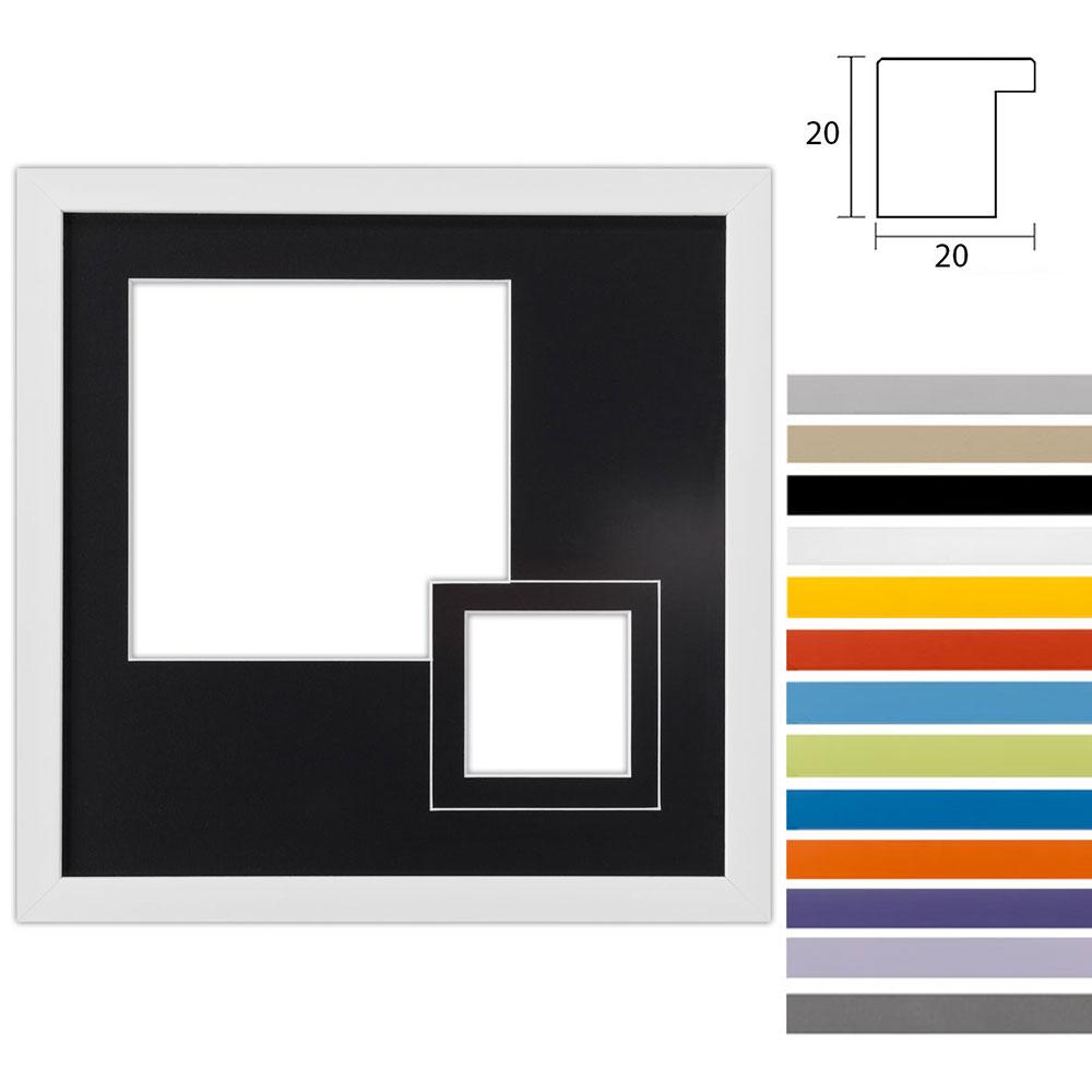 Galleriram Top Cube av trä i in 30x30 cm för 2 foton