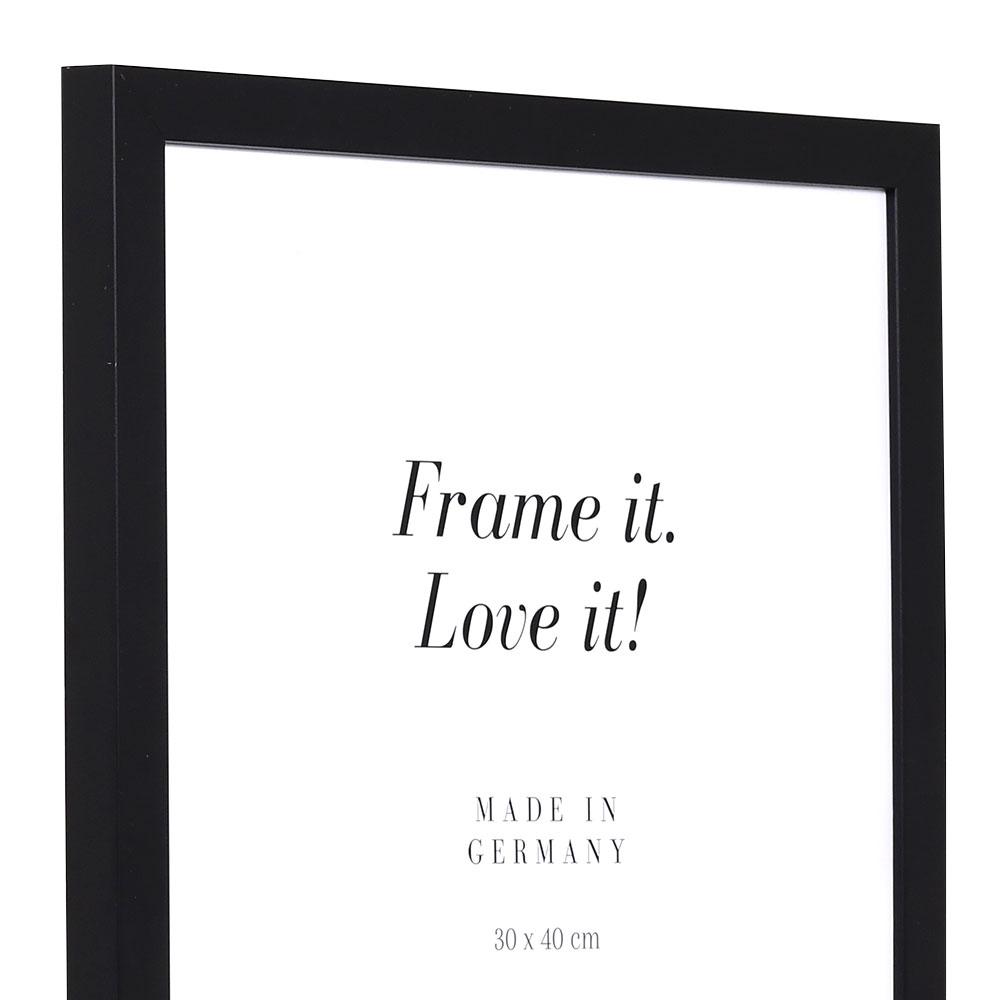 Träram Top Cube 40x60 cm | svart | standardt glas