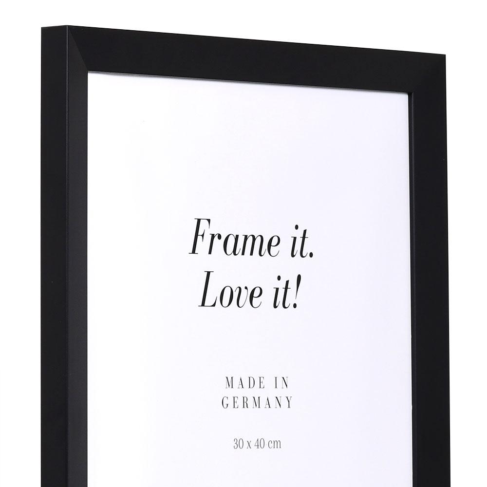 Träram Top N 84,1x118,9 cm (A0) | svart | Antireflex-Konstglas