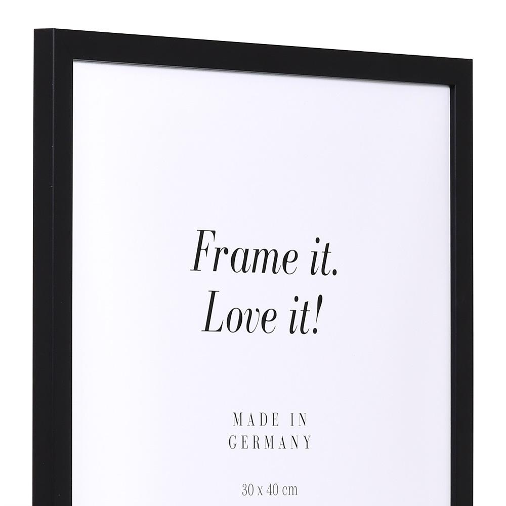 Träram Top Pro S 50x60 cm   svart   standardt glas