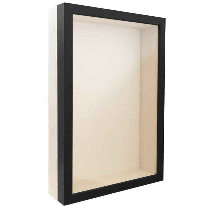 Unibox Bildram 13x18 cm | svart-vit | standardt glas