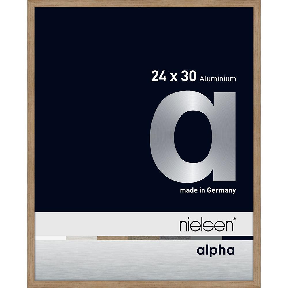 Aluminiumram Alpha 24x30 cm | ek (fanerad yta) | standardt glas