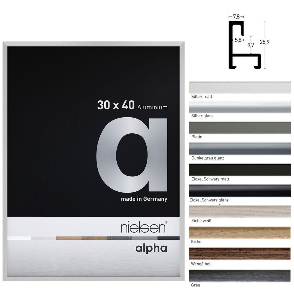 Aluminiumram måttbeställd, profil alpha