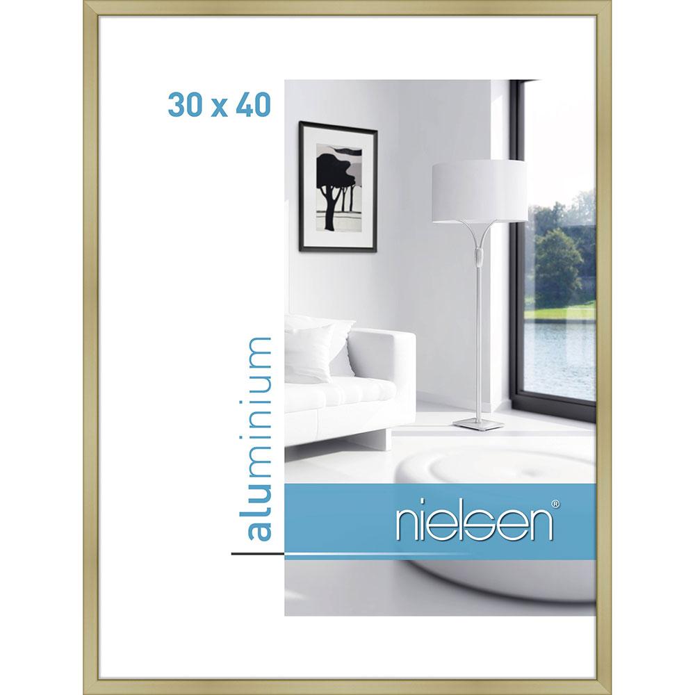 Aluminiumram Classic 30x40 cm | guld matt | standardt glas
