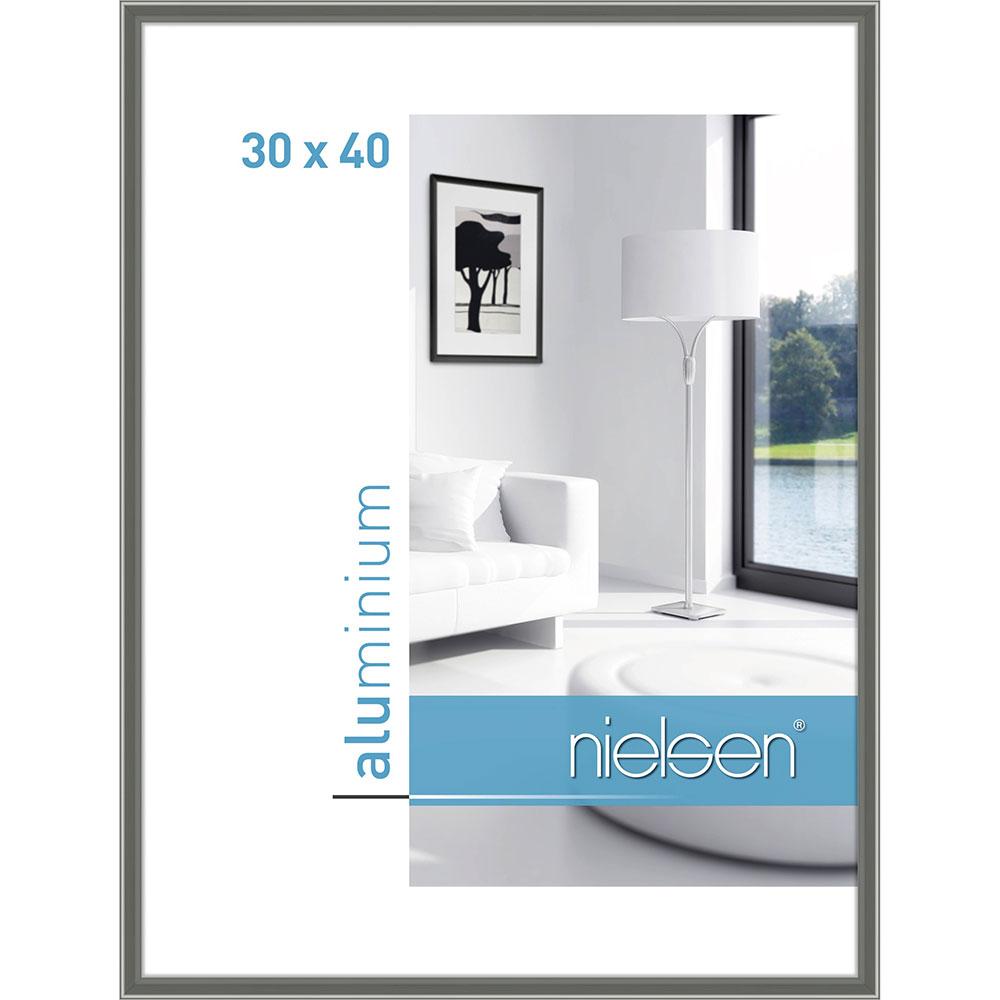 Aluminiumram Classic 30x40 cm   kontrastgrå   standardt glas