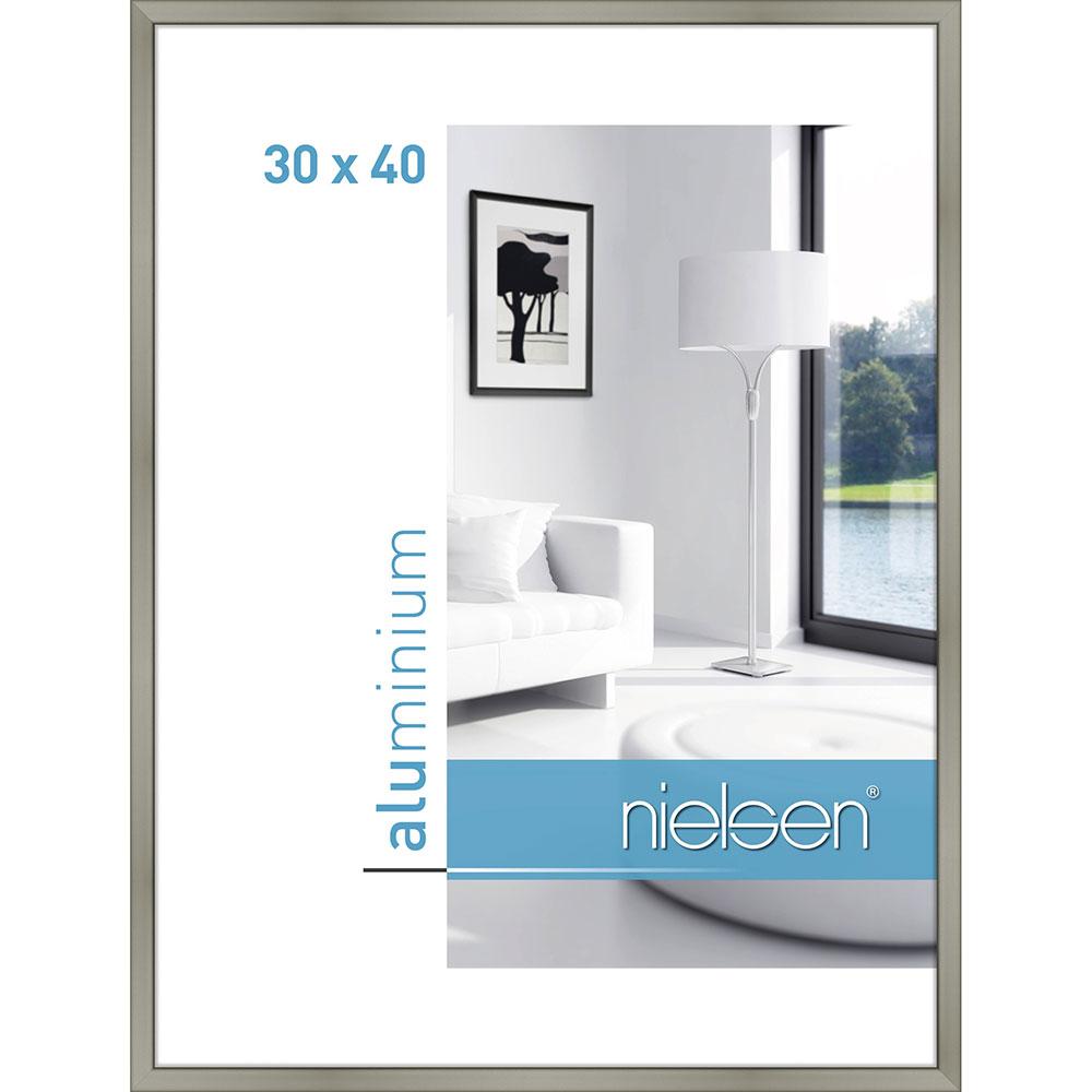 Aluminiumram Classic 30x40 cm | champagne | standardt glas