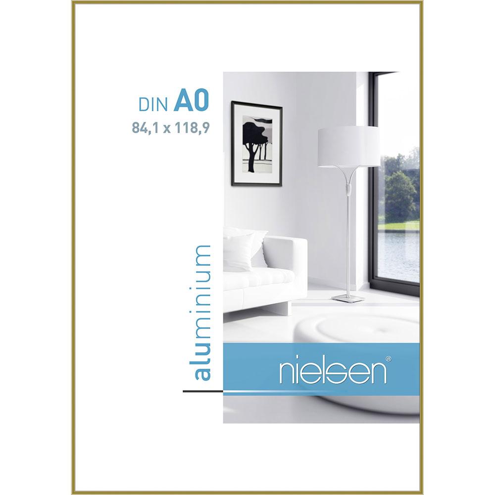 Aluminiumram Classic 84,1x118,9 cm (A0) | guld | standardt glas