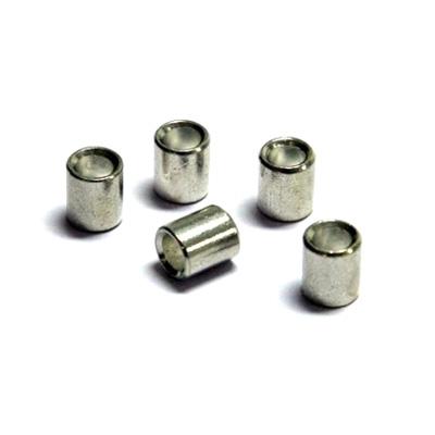 100 styck nitar för nylonlina (2mm) och stållina, vit (1,5mm)