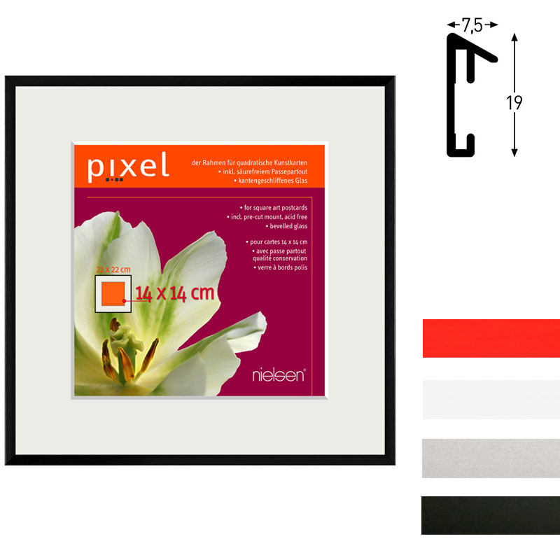 Aluminiumram Pixel inkl. passepartout