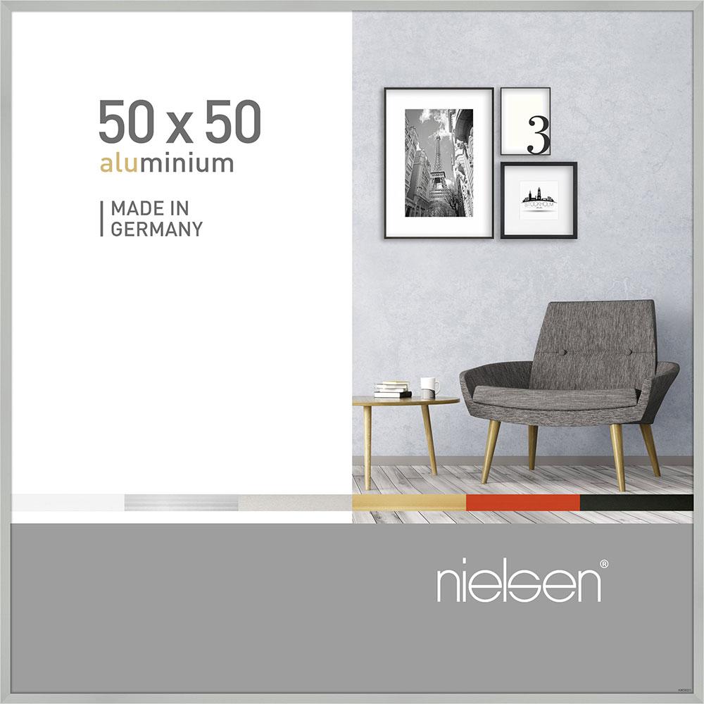 Aluminiumram Pixel 50x50 cm | silver matt | standardt glas