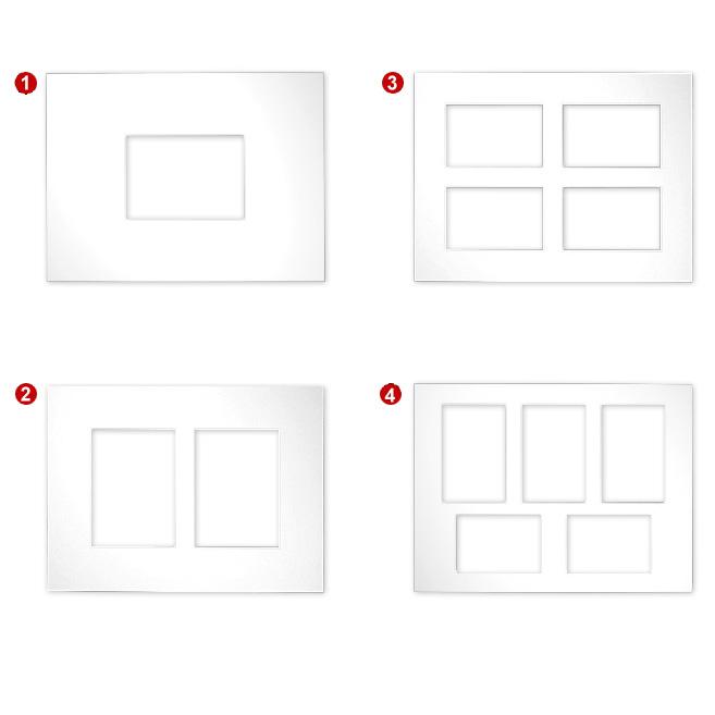 Galerie-passepartouter 2,5 mm, yttre format 30x40