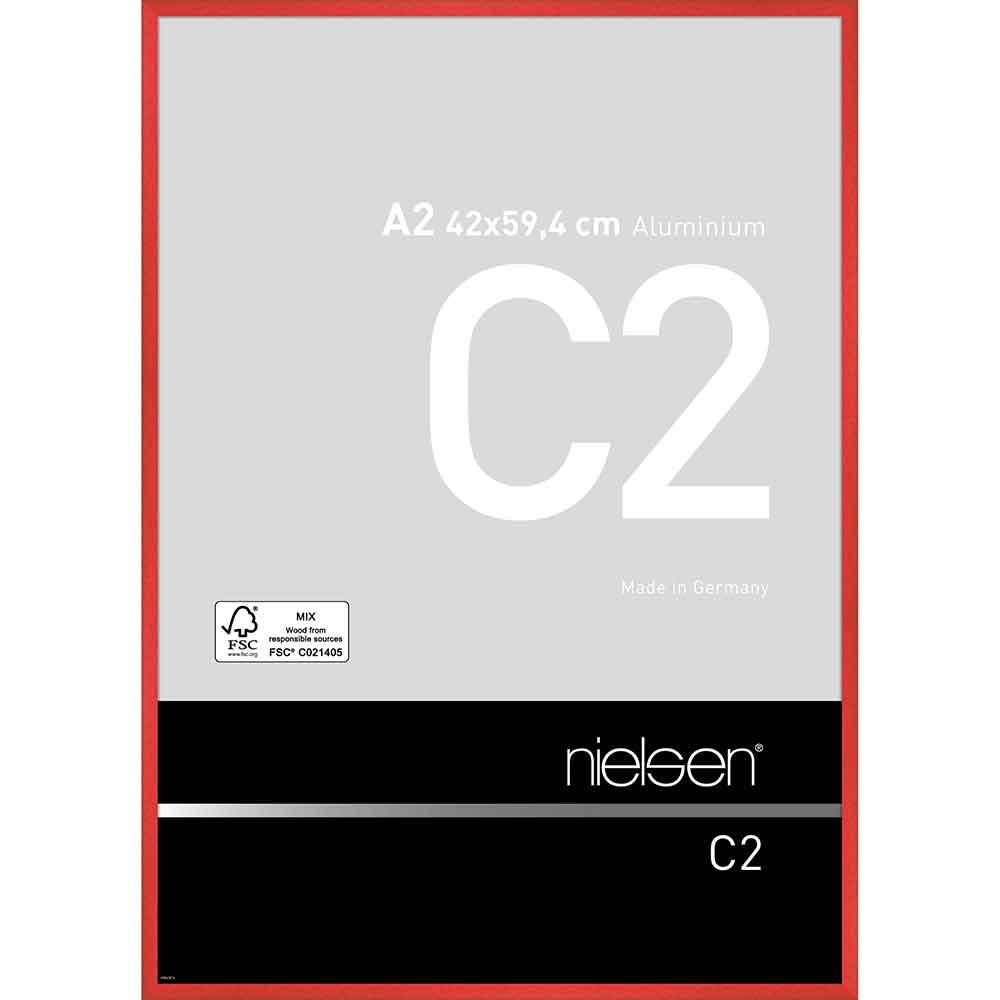 Aluminiumram C2 42x59,4 cm (A2)   tornadoröd   standardt glas