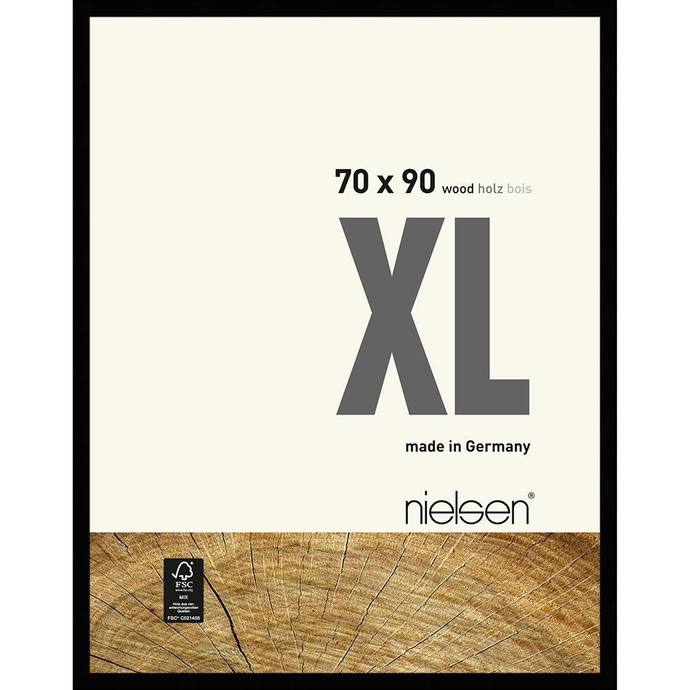 Träram Quadrum XL 70x90 cm | svart | standardt glas