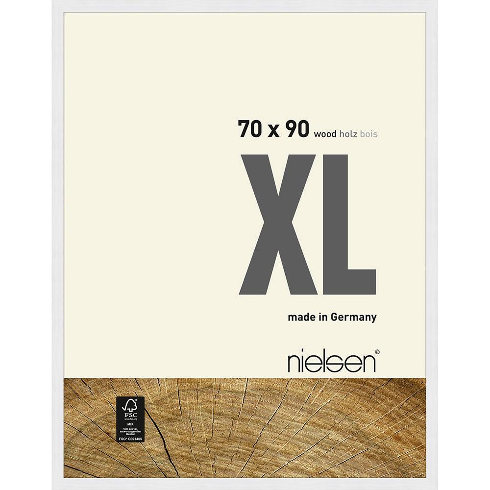 Träram Quadrum XL 70x90 cm | vit | standardt glas