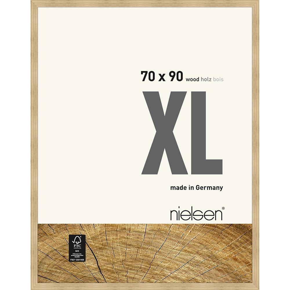 Träram Quadrum XL 70x90 cm   ek natur   standardt glas