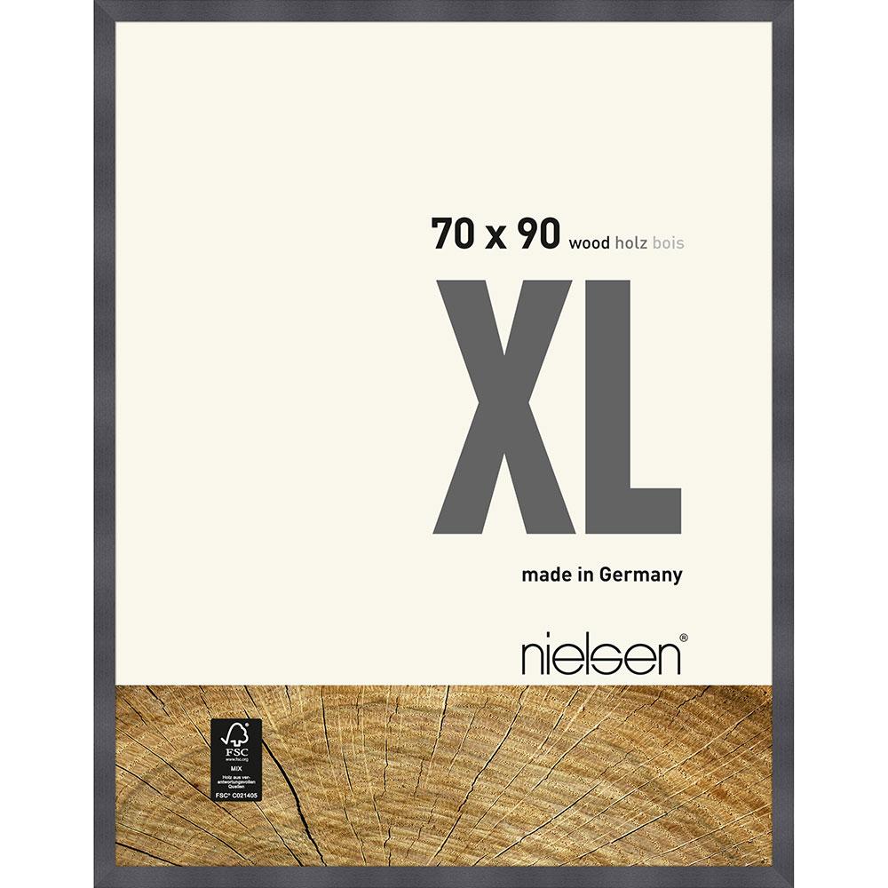 Träram Quadrum XL 70x90 cm | grå | standardt glas