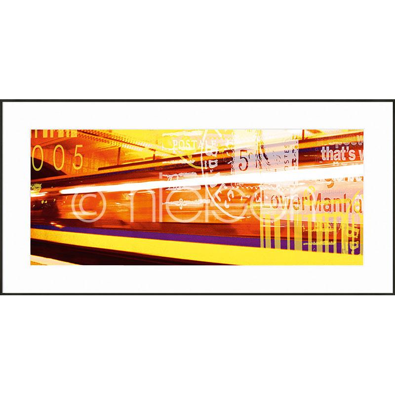 "Inramad bild ""Metro Lower Manhattan"" med aluminiumram C2"