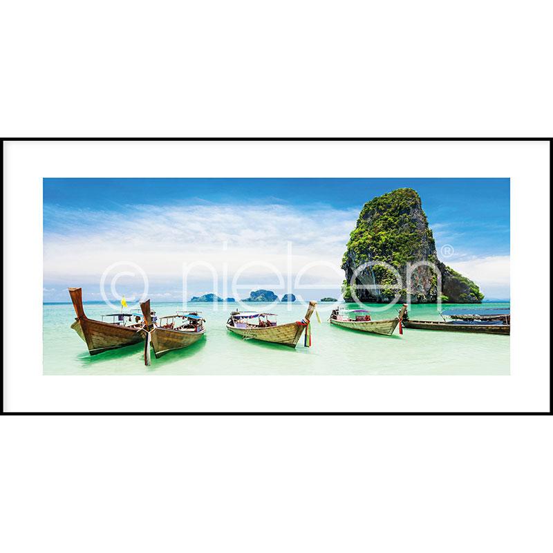 "Inramad bild ""Exotic Island"" med aluminiumram C2"