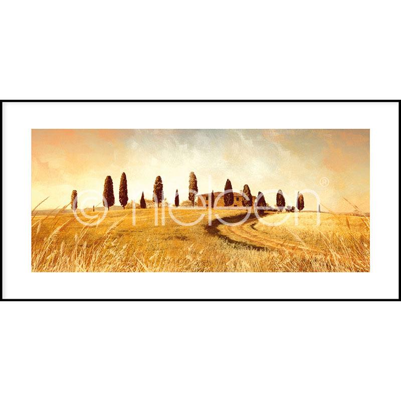 """Inramad bild """"Landscape Italy"""" med aluminiumram C2"""
