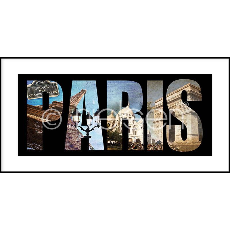 """Inramad bild """"Paris"""" med aluminiumram C2"""